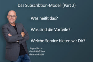 """Subscription-Modell – Umsetzung Datenschutz: Im letzten Blogbeitrag habe ich Dir die theoretischen Grundlagen von Subscription dargestellt. Es geht um das Abo-Modell, die Kundenorientierung und die dadurch entstehende lebenslange Bindung. Das zusammengefasst ist das einzigartige und erfolgreiche System: Subscription. Heute stelle ich passend dazu unser Geschäftsmodel """"Datenschutzbeauftragter"""" a'la Subscription vor. Unser bewährtes Geschäftsmodel haben wir in den letzten Monaten angepasst und verändert und sind seit dem 01.11.2020 dabei den Kundenmarkt noch mehr zu begeistern. Was passiert? Bisher hat jeder Kunde alles was Du Dir vorstellen kannst zum Datenschutz bekommen, ungefragt ob dieser es haben möchte oder nicht. Immer das Rund-um-Sorglos-Paket. Ab jetzt ermitteln wir vorher, welcher Service macht Dich im Bereich Datenschutz glücklich. Unter anderem wird abgefragt wie viele Mitarbeiter Du hast, ob Du personenbezogene Daten verarbeitest, wo diese Daten verarbeitet werden und die Anzahl deiner Standorte. Aus diesen Fragen ergeben sich die verschiedenen Serviceleistungen von uns. Dabei ist es sehr wichtig, dass es ein Service ist. Kein Kunde bekommt nur ein Produkt, kein Kunde erhält nur einmal ein Konzept, kein Kunde bekommt nur einmal eine Datenschutzerklärung. Nein, wir stellen sicher, dass für die Vertragslaufzeit, der Kunde immer die aktuelle Version hat, ob es bei Konzepten ist, im Reportsystem oder bei der Datenschutzerklärung. Gestartet wird mit dem Basisdatenschutzservice. Das umfasst genau die Aufgaben, die ein Datenschutzbeauftragter nach DSGVO machen muss. Und nun kann der Kunde entscheiden welche Optionen er dazubucht. Was tut ihm gut? Was braucht er? Was brauchst Du? Brauchst Du Konzepte und Formulare auf Deutsch oder Englisch? Möchtest Du immer die aktuelle Datenschutzerklärung auf deiner Internetseite haben? Sprich bei jedem neuen EuGH-Urteil diesbezüglich, wird sie angepasst. Ist es Dir wichtig, wenn Du eine Datenpanne hast, dass Du dies sofort i"""